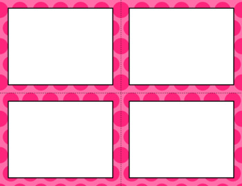 Blank Task Cards - Basics: Jumbo Polka Dots | Editable PowerPoint