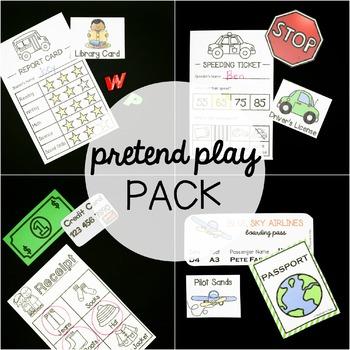 EDITABLE Pretend Play Pack