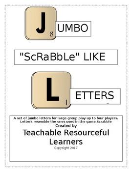 """Jumbo """"Scrabble"""" Like  Letters"""