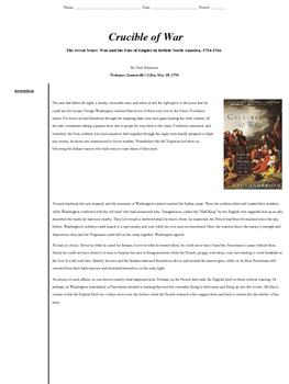 Jumonville Glen, Crucible of War, French and Indian War