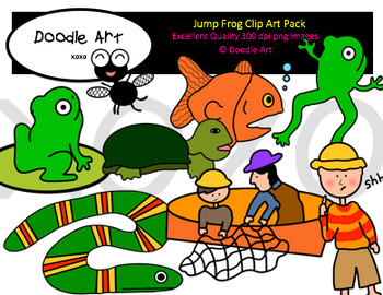 Jump Frog Clipart Pack