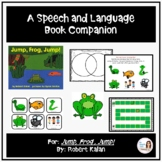 """""""Jump Frog Jump"""" A Speech Therapy Book Companion for SPRING"""