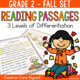Differentiated Reading Passages and Questions Fall for 2nd Grade