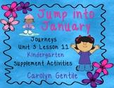 Jump Into January Journeys Unit 3 Lesson 11 kindergarten Supp. Act.
