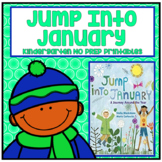 Jump Into January Kindergarten NO PREP Supplemental Printables