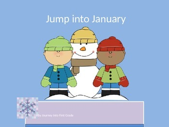 Jump Into January (Unit 3) Journeys Kindergarten Common Core Reading Series
