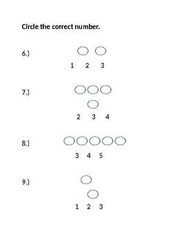 Jump Math Kindergarten Unit 1 Test