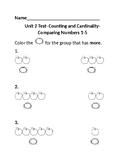 Jump Math Kindergarten Unit 2 Test
