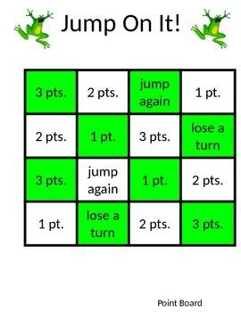 Jump On It!  2 Digit + 2 Digit Addition Game