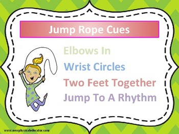 Jump Rope Cues Poster