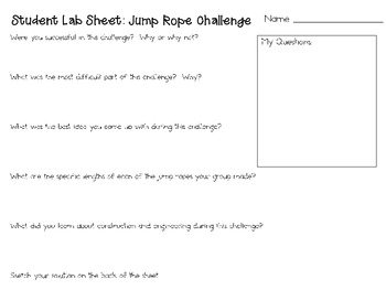 Jump Rope: Engineering Challenge Project ~ Great STEM Activity!