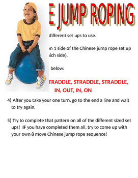 Jump Rope For Heart Station Signs (with directions)
