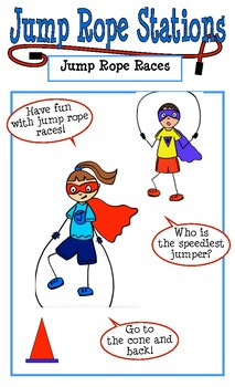 Jump Rope Station Cards:  Perfect for Jump Rope for Heart Event