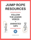 Value Pack: Jump Rope in PE Follow the Leader Pack - Videos and GIF Slideshows