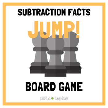 Jump! Subtraction Facts Game Cards (for use with Jump! Gameboard Freebie)