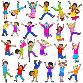 Jump for Joy - Happy Kids | Clip Art Kids