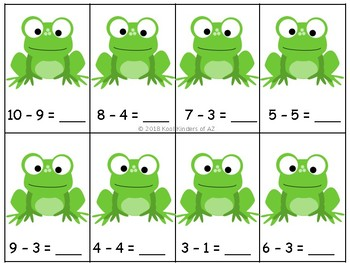 *FREEBIE* Jump the Frog Addition and Subtraction Number Line Center