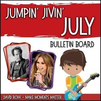 Jumpin' Jivin' July -- Music Bulletin Board Set