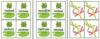 Jumping Frog Phonic game KS1 Year 1 polysyllabic words
