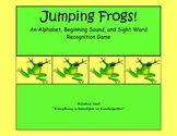Jumping Frogs!  An Alphabet, Beginning Sound, and Sight Word Recognition Game