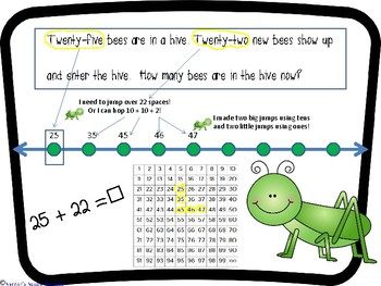 Jumping Grasshoppers Addition and Subtraction to 1000 On an Open Number Line