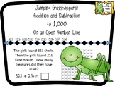 Jumping Grasshoppers Addition and Subtraction to 1000 On a