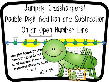 Jumping Grasshoppers! Double Digit Addition / Subtraction