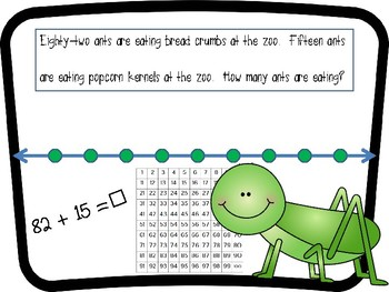 Jumping Grasshoppers! Double Digit Addition / Subtraction On an Open Number Line