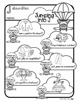 Jumping Into J | Printable PDF | J Sound | Speech Therapy | Articulation