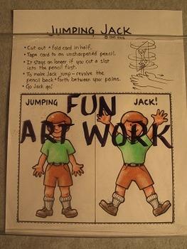 Jumping Jack. Fun Craft Art
