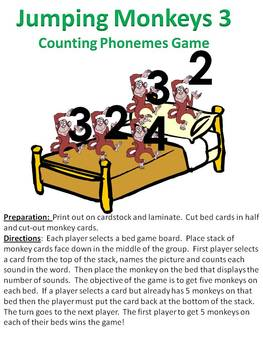 Jumping Monkeys 3 - A counting phonemes in words game