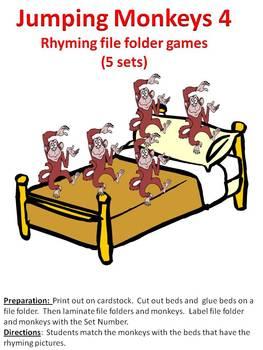 Jumping Monkeys 4 - rhyming file folder games