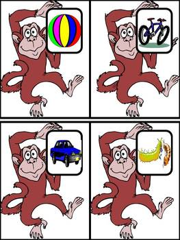 Jumping Monkeys - a beginning sound and letter sort