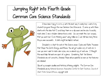 Jumping into the Fourth Grade Next Generation Science Standards