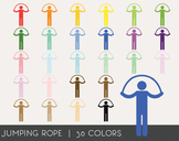 Jumping rope Digital Clipart, Jumping rope Graphics, Jumpi