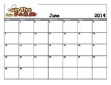 June 2014 Farm Theme Calender