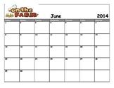 June 2014 Farm Theme Calender