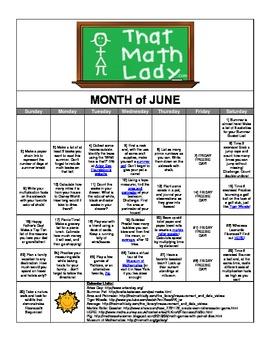 June 2013 Summer Activity Calendar