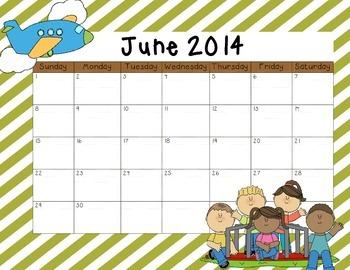 June 2014 Calendar Freebie!!