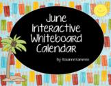 June 2019 Interactive Whiteboard Calendar