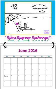 June 2016 ( A 1-Month Inspirational Calendar for Teachers)