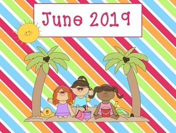 June 2017 Activboard Calendar Math