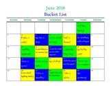 June 2018 Bucket List