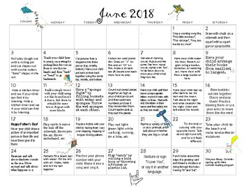 June 2018- Early Learning Activity Calendar