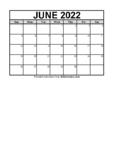 June 2021 Calendar (FREE Blank PDF Format)