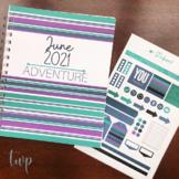June 2021 Self-Print Teacher Wellness Monthly Planner