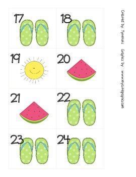 June ABBCCC pattern calendar pieces