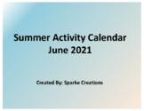 June 2019 Summer Activity Calendar
