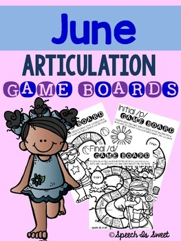 June Articulation Game Boards By Speech Is Sweet Tpt