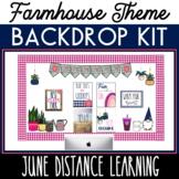 June Backdrop Kit Distance Learning Backdrop  Summer Year